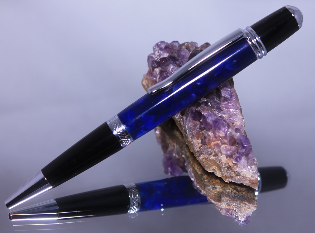 sierrapen chrome crushed navy blue acryl 01